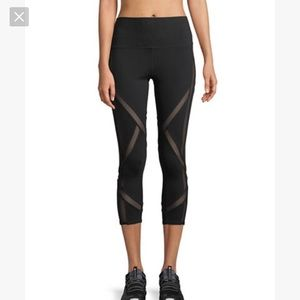 ALO Yoga • Laced High Waisted Black Capri Leggings